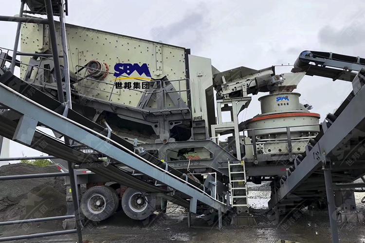 陕西铁矿企业时产50-60吨铁尾矿移动制砂生产线